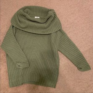 Off the Shoulder Umgee Green Sweater